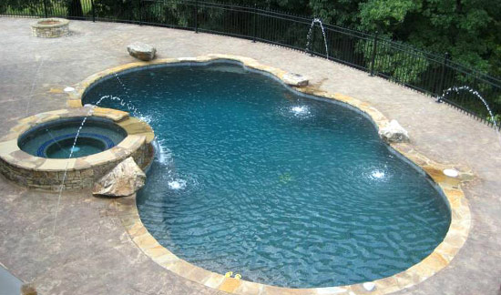 Pin swimming pools types and shapes on pinterest for Types of swimming pools